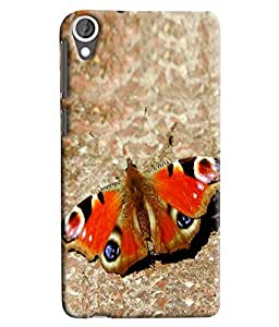 Blue Throat Butterfly Inspired Hard Plastic Printed Back Cover/Case For HTC Desire 820