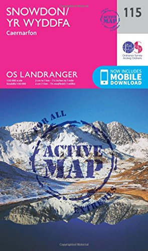 Snowdon & Caernarfon (OS Landranger Active Map)
