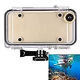 SmartAcc iPhone6/6S用 完全 防水ケース Goproマウント/広角170 魚眼レンズ付き goproのヘッドマウント/バイクマウント/自撮り棒/フローティング対応 防塵 耐衝撃 防滴 防振 防水IPX68