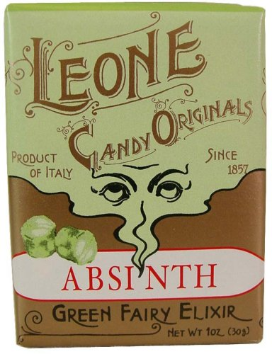 Absinth ~ Green Fairy Elixir Leone Italian Traditional Candy mints retro packaging, 30 g ~ 1 oz (Gourmet,Leone,Gourmet Food,Candy,Hard Candies)