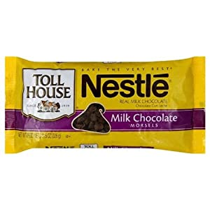 Nestle Toll House Milk Chocolate Morsels, 11.5 Ounce Packages (Pack of