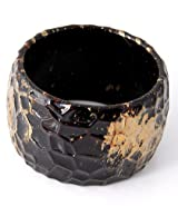 Textured Wide Bangle Bracelet