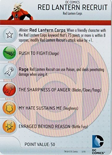 Heroclix DC War of Light #002 Red Lanern Recruit Figure Complete with Character Card - 1
