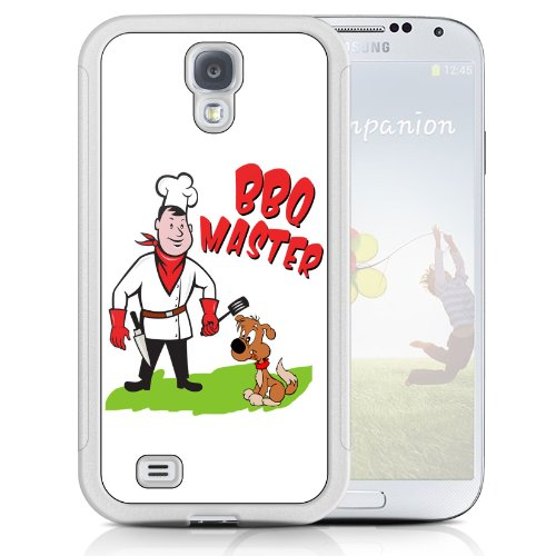 White Cover For Samsung Galaxy S4 BBQ Master Funny Phone Case Shell