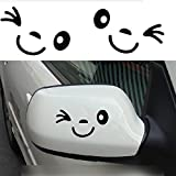 HuaYang Cute Smile Face 3D Decal Sticker for Auto Car Side Mirror L+R Rearview