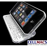 New 3 in 1 Sliding White Bluetooth Keyboard and Case for iPhone 4G, 4S ~ YMS