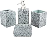 Chrome 2481B Bathroom Set, Light Grey