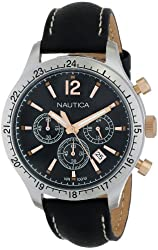 Nautica Men's N16660G BFD 104 Sport Chrono Classic Japanese Chronograph Movement Watch