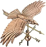 Good Directions 9699PA Soaring Hawk Weathervane, Polished Copper