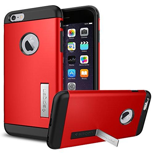 iPhone 6 Plus ケース, Spigen® [ スリム+保護力+個性 ] スリム アーマー Apple iPhone (5.5) アイフォン 6 プラス カバー (国内正規品) (エレクトリック・レッド SGP10902)