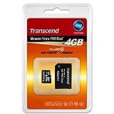 トランセンド・ジャパン microSDHCカード 4GB Class6 MS Pro DUO変換アダプタ付 TS4GUSDHC6-MS