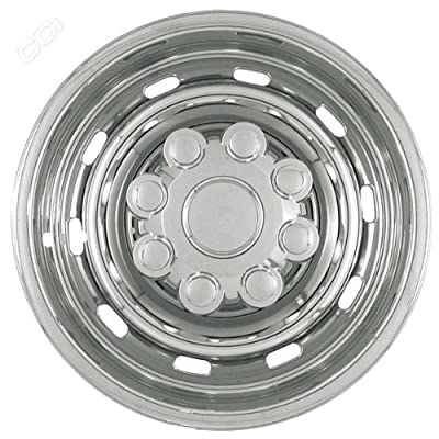 Coast To Coast IWCIMP57X 17 Inch Chrome Wheelskins With 10 Rounded Slots - Pack Of 4