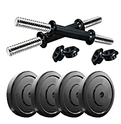 Aurion Vw-10Kg 10 Kg Dumbbell Set Combo Offer (Black)