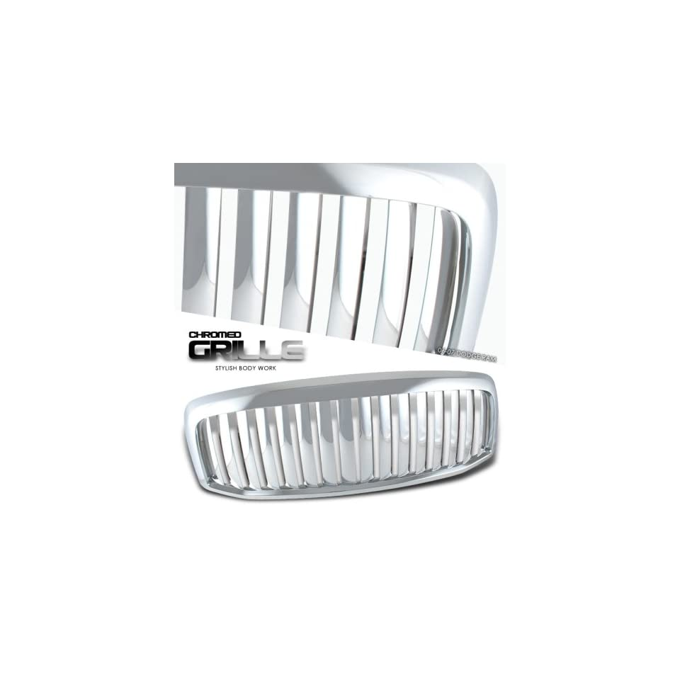 2006 2007 DODGE RAM PICKUP TRUCK VERTICAL FRONT CHROME GRILLE GRILL