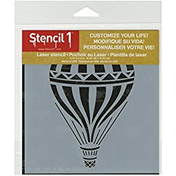 Stencil1 S1_01_173_S Hot Air Balloon Stencil, 6\