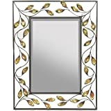 Essential Décor Entrada Collection Metal Mirror, 29.75 By 23-Inch