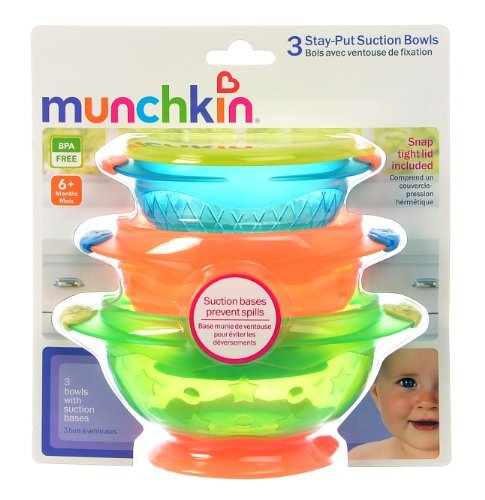Stay-put suction bowls