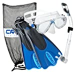 Cressi Mask Fin Snorkel Set, Blue, Sm...