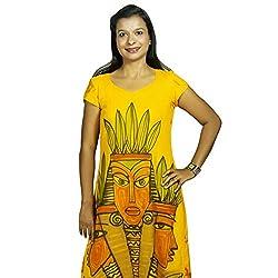 Baja Women's Dress (DL_HS_VN_MS, Mustard, S)