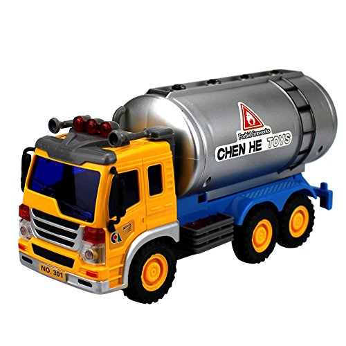 Lanshowed Friction Powered Transport Fuel Tanker Diecast Vehicles Toys for Kids (Diesel Fuel Tanker compare prices)