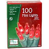 Holiday Wonderland 100-Count Red Christmas Light Set