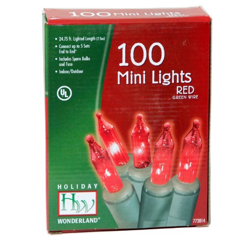 Holiday Wonderland 100-Count Red Christmas Light Set  Best Offer