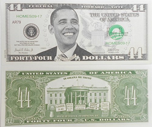 Obama - Pack of (10) #44 President Obama Novelty Bills