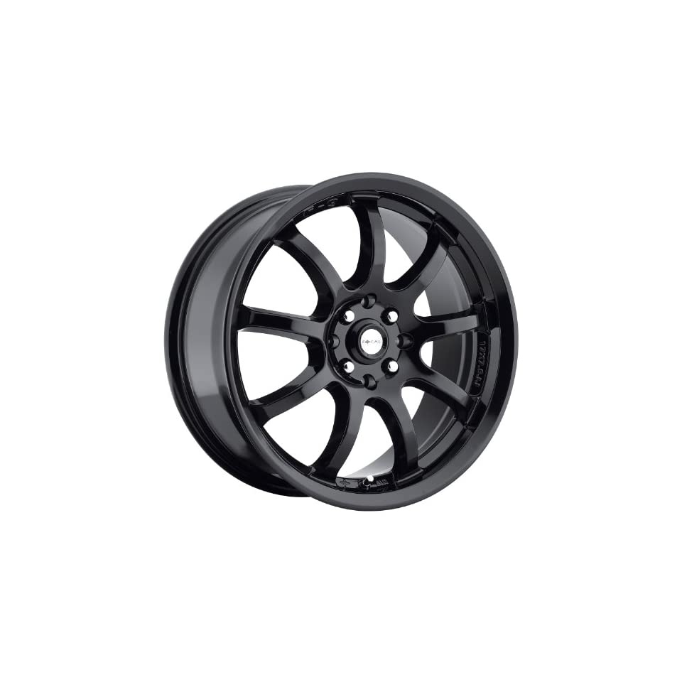 Focal F 9 16 Gloss Black Wheel / Rim 4x100 & 4x4.5 with a 42mm Offset and a 73 Hub Bore. Partnumber 169 6703BK