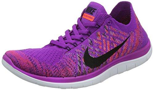 Nike Free 4.0 Flyknit Sz 7.5 Womens Running Shoes Purple New In Box