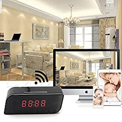 SPY WIFI TABLE CLOCK CAMERA