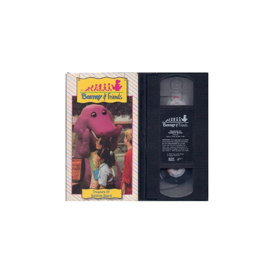 & Friends Treasure Of Rainbow Beard (VHS) Barney Movies & TV