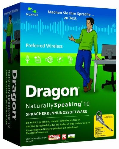 Dragon NaturallySpeaking Preferred 10.0 - German - Wireless (PC CD)