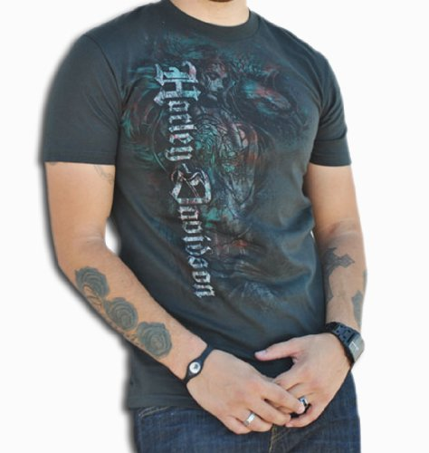 Harley-Davidson Mens Chica Pirate Black Short Sleeve T-Shirt (X-Large)