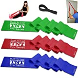 TNT Flat Stretch Bands Exercise Set - Extra Long Extra Wide - Heavy Duty Door Anchor Included