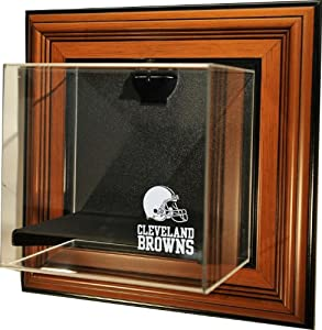 NFL Cleveland Browns Mini-Helmet Case-Up Display Case with Museum Quality UV Upgrade by Caseworks