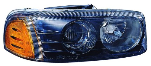 Depo 335-1114P-AS2 Black Headlight Assembly (05 Sierra Headlight Assembly compare prices)
