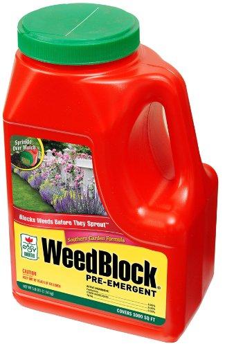 Easy Gardener 70008 Weedblock Pre Emergent, Southern Formula, Covers  1,000 Sq.
