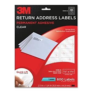 Amazoncom 3m return address labels with quick lift for 3m return address labels