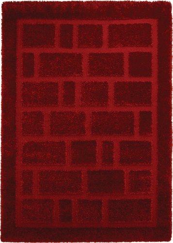 Home Dynamix Structure 17001-200 5-Feet 2-Inch by 7-Feet 2-Inch Area Rug, Red