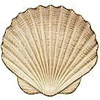 Stoneware Shell Tidbit Plate