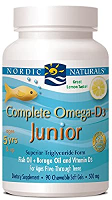 Nordic Naturals, Complete Omega-D3 Junior, 90 Tablets 500mg