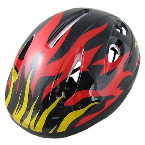 Como Woman Men Red Black Bicycle Bike Cycling Skating Fire Flame Helmet