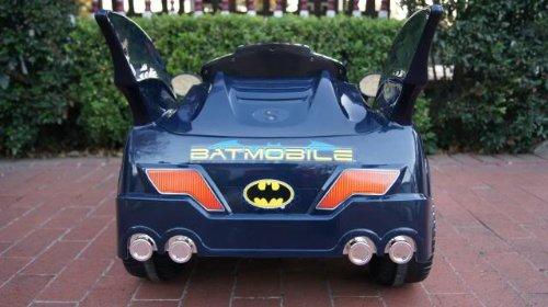 new batman batmobile power ride on kids car in blue or black color sent at random6v 10ah battery rc music