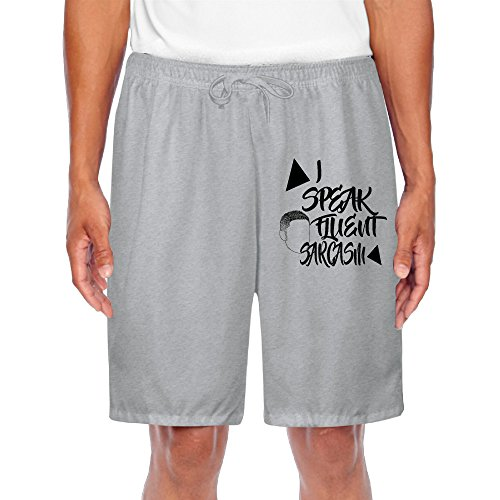 Climbing Mens Short Sweat Pant I Speak Fluent Sarcasm For Athletic Fitness (Suarez Cycling Shorts compare prices)