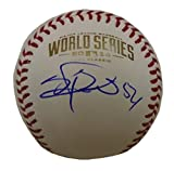 Sergio Romo Autographed / Signed 2014 World Series Rawlings Official Game Baseball, San Francisco Giants, SF, WS, Proof Photo