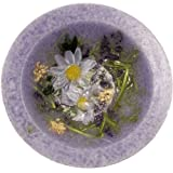 "Lavender and Chamomile Scented Flameless Decorative Candle - 7"" in Diameter - Comes in Gift Box"