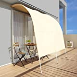 【アーチ型サンシェード 洋風たてす オーニング スクリーン 日よけ】アーチ型サンシェード 幅200cm ベージュ(JT-001-S2)