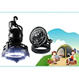 AGPtek® 2-in-1 18 LED Camping Light Flashlight and Ceiling Fan for Outdoor Hiking
