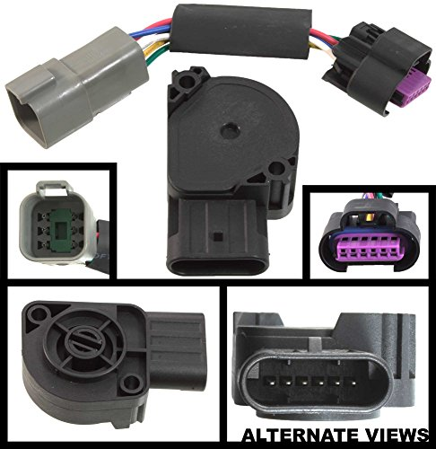 APDTY 112792 TPS APPS Throttle Position Accelerator Pedal Position Sensor w/Wiring Harness Adapter Connector Fits 1998-2004 Dodge Ram Pickup 5.9L Cummins Diesel (Replaces AP63428, 53031575AH)