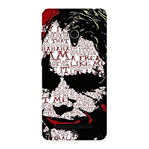 Cute Insane Writing Back Case Cover for Zenfone 5